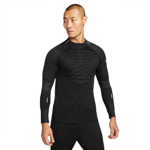 Nike Winter Warrior Strike Drill Top – Black/Total Orange