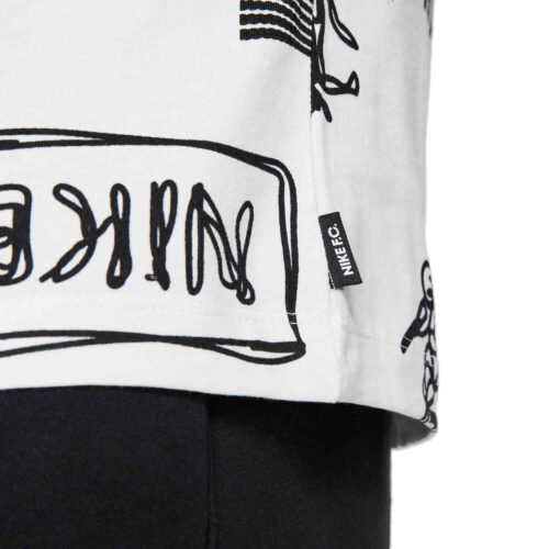 Nike FC Lifestyle All over Print Tee – White