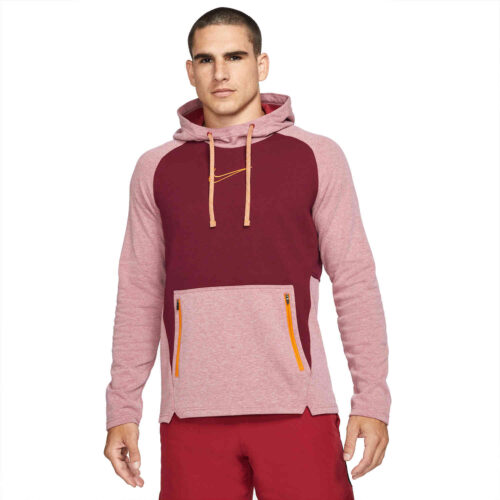 Nike Therma-FIT Fleece Hoodie – Pomegranate/Heather
