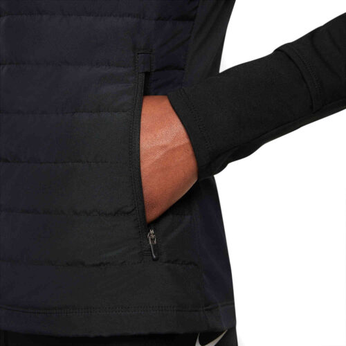 Womens Nike Therma-Fit Filled Vest – Black/Reflective Silv