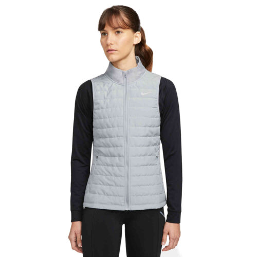 Womens Nike Therma-Fit Filled Vest – Particle Grey/Reflective Silv