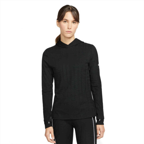 Womens Nike Therma-Fit ADV Running Hoodie – Black/Reflective Silv