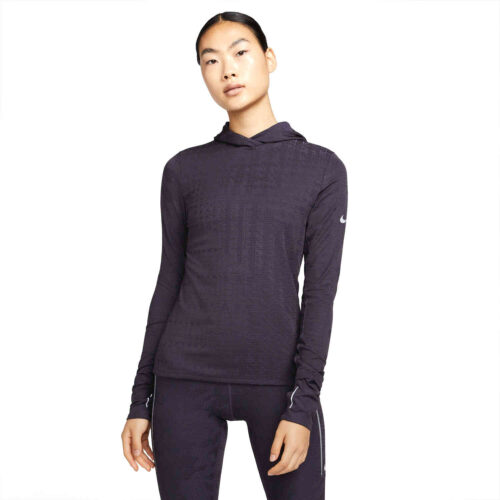 Womens Nike Therma-Fit ADV Running Hoodie – Cave Purple/Reflective Silv