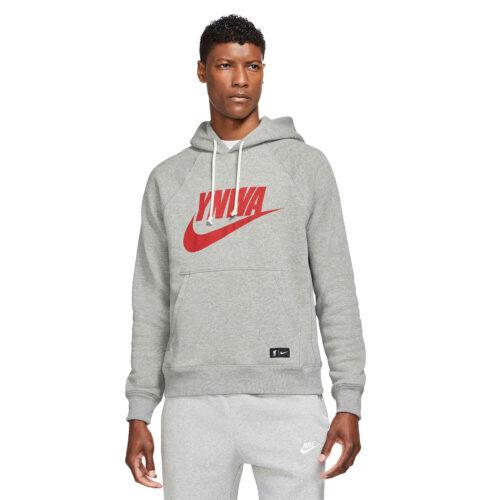 Nike Liverpool SB Heritage Lifestyle Hoodie – Dark Steel Grey/Heather/Rush Red