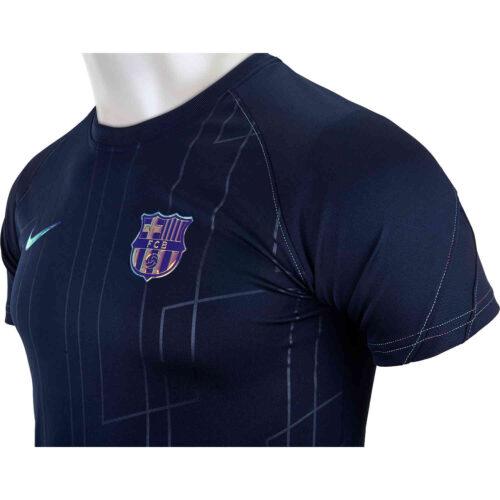 Kids Nike Barcelona Away Lifestyle Pre-match Top – 2021/22