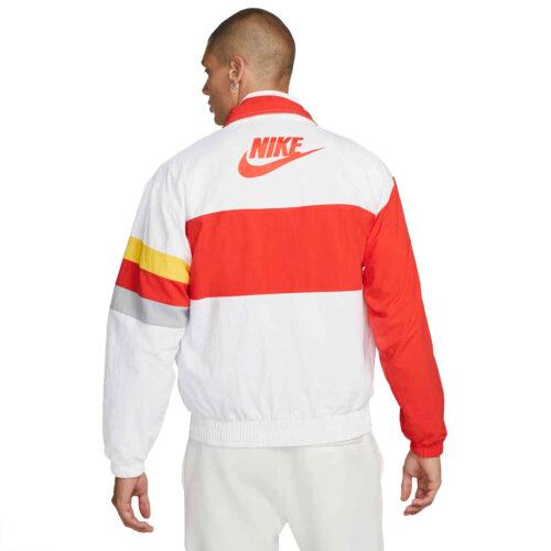 Nike Liverpool I96 Heritage Lifestyle Jacket – White/Rush Red/Wolf Grey/Chrome Yellow
