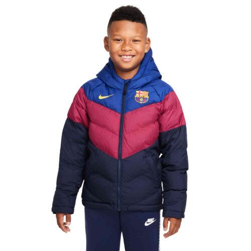 Kids Nike Barcelona Fill Jacket – Deep Royal Blue/Noble Red/Varsity Maize
