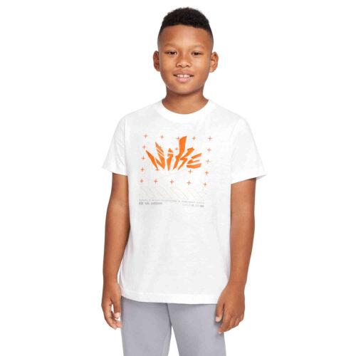 Kids Nike Futura Tee – White