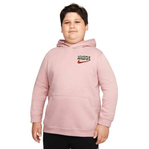 Kids Nike Graphic Fleece Hoodie – Pink Oxford