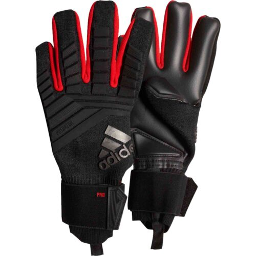 adidas Predator Pro Goalkeeper Gloves – Black/Active Red
