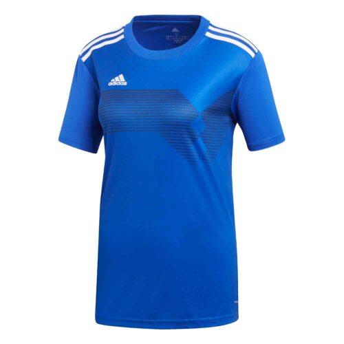 Womens adidas Campeon 19 Jersey – Bold Blue/White