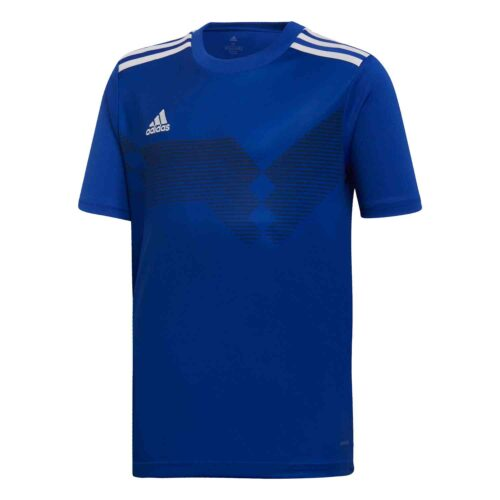 Kids adidas Campeon 19 Jersey – Bold Blue/White