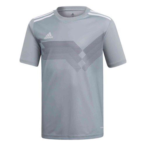 Kids adidas Campeon 19 Jersey – Light Grey/White