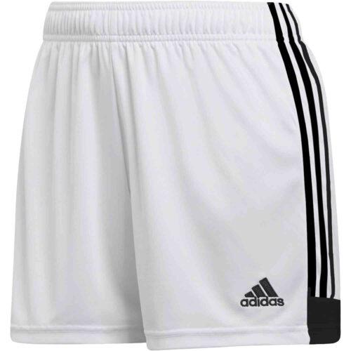 Womens adidas Tastigo 19 Shorts – White/Black