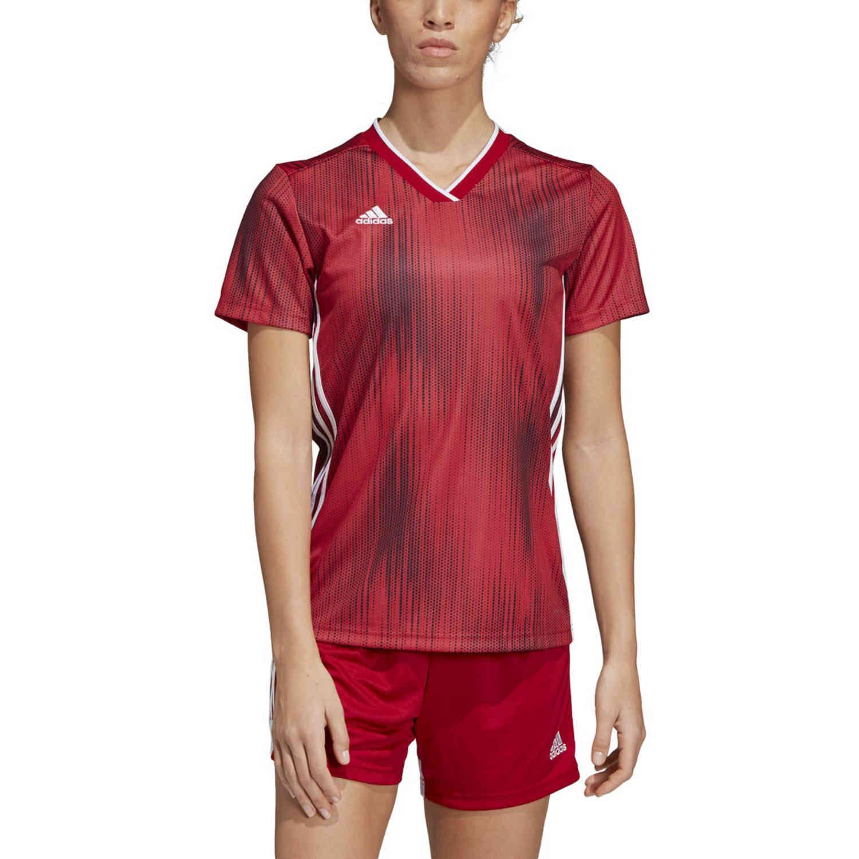Womens adidas Tiro 19 Jersey - Power Red - SoccerPro