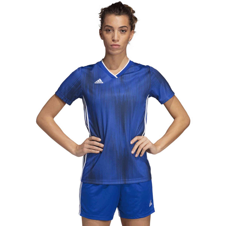 Womens adidas Tiro 19 Jersey - Bold Blue - SoccerPro