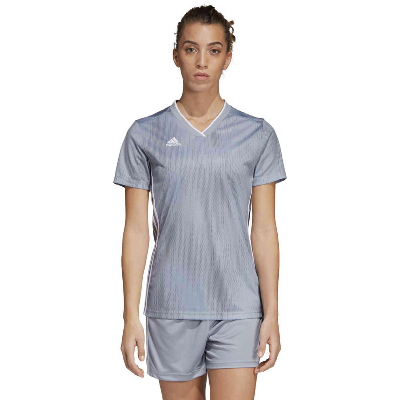 Womens adidas Tiro 19 Jersey - Light Grey - SoccerPro