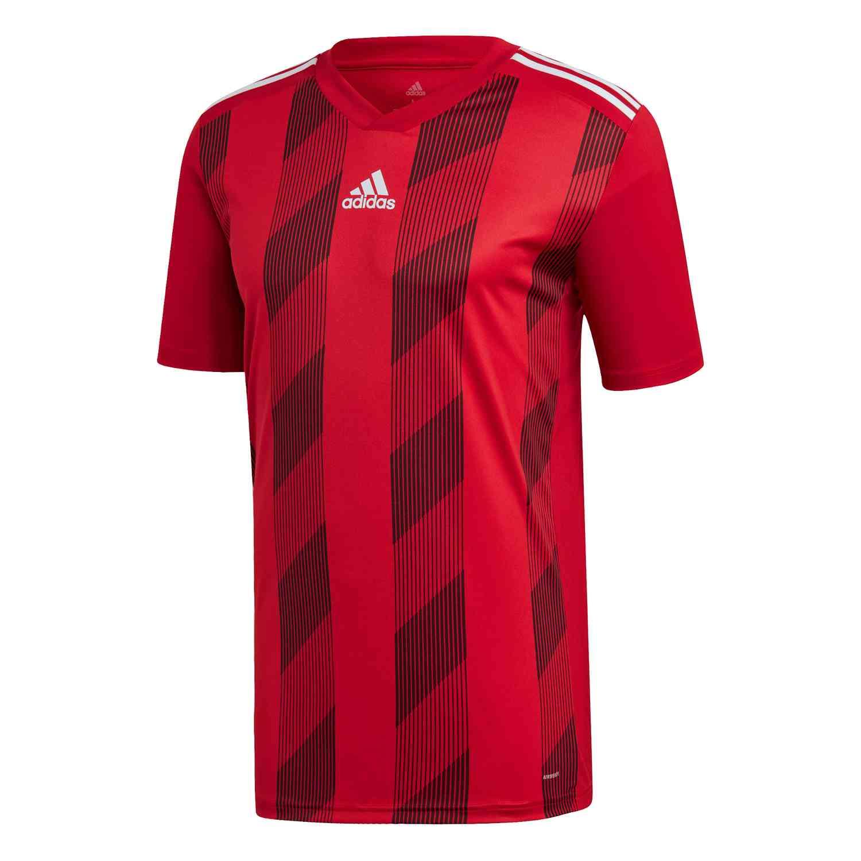 adidas Striped 19 Jersey - Power Red/White - SoccerPro