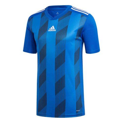 adidas Striped 19 Jersey – Bold Blue/White