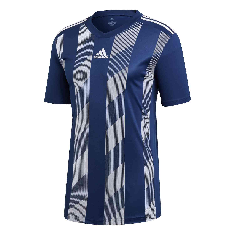 adidas Striped 19 Jersey - Dark Blue/White - SoccerPro