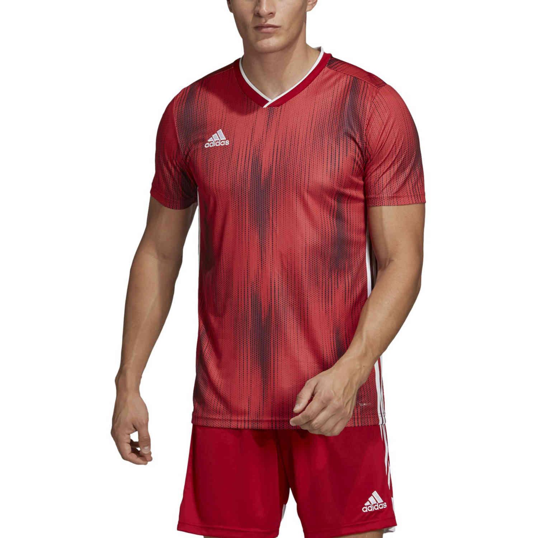 adidas Tiro 19 Jersey - Power Red - SoccerPro