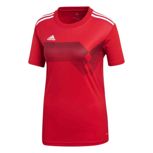 Womens adidas Campeon 19 Jersey – Power Red/White