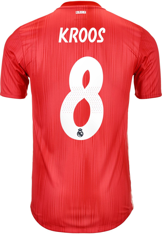 3f55ddc8b0b 2018 19 adidas Toni Kroos Real Madrid Authentic 3rd Jersey - SoccerPro