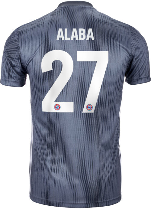 2018/19 Kids adidas David Alaba Bayern Munich 3rd Jersey