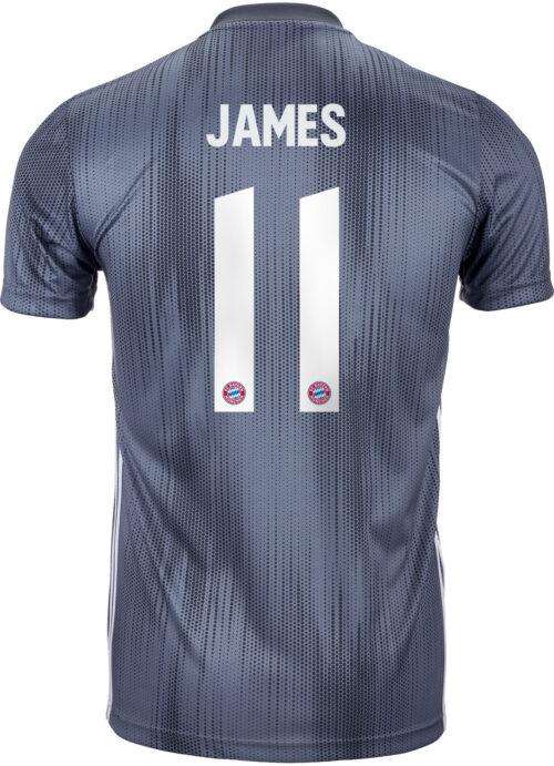 2018/19 Kids adidas James Rodriguez Bayern Munich 3rd Jersey