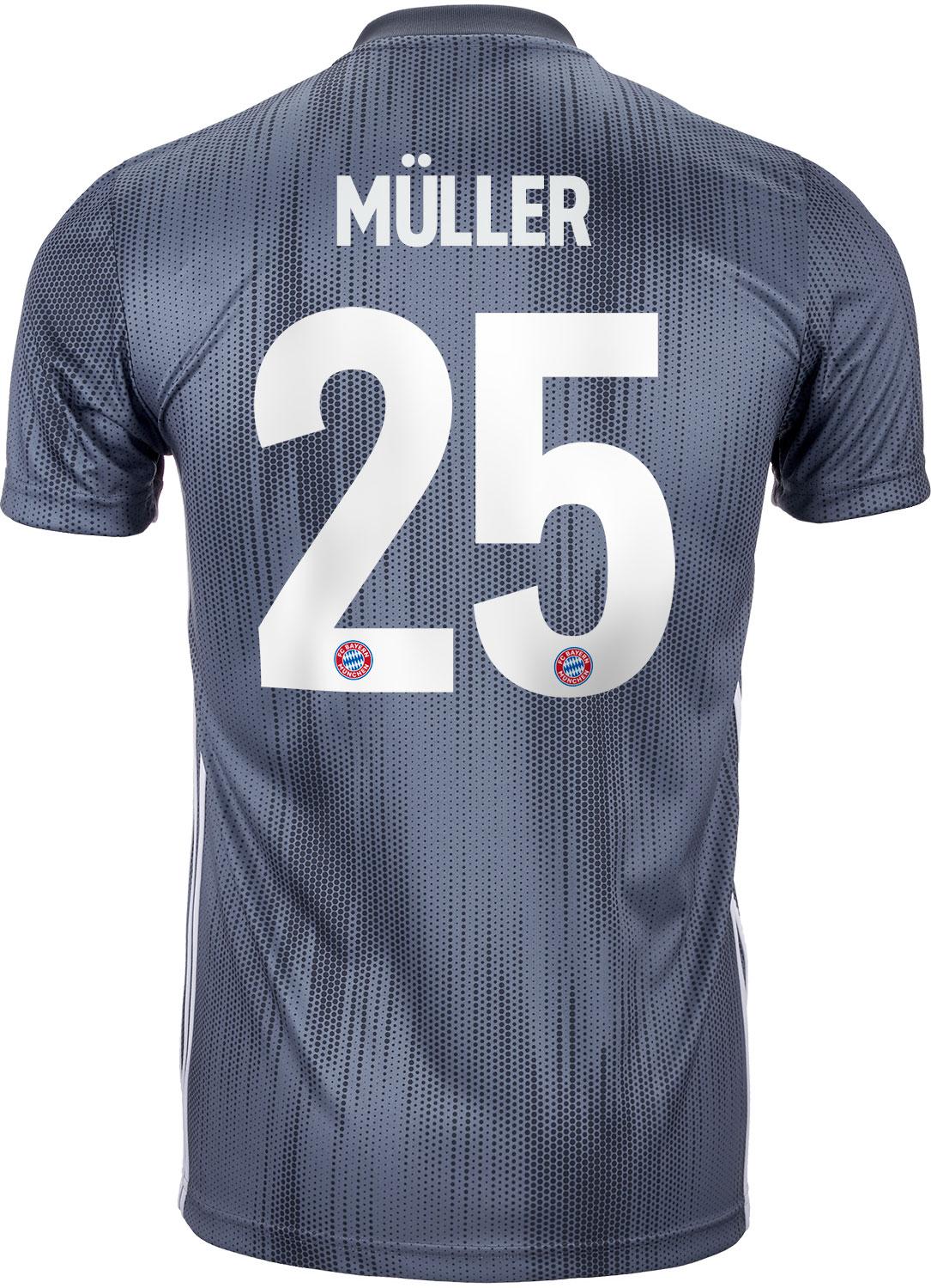 fe448f1c621 2018 19 Kids adidas Thomas Muller Bayern Munich 3rd Jersey - SoccerPro