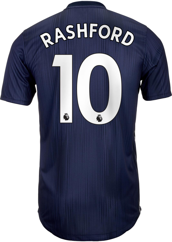 3bd42ab11fc adidas Marcus Rashford Manchester United 3rd Authentic Jersey 2018 ...