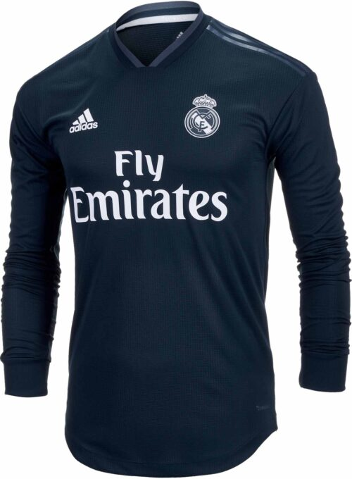 adidas Real Madrid Away Authentic L/S Jersey 2018-19