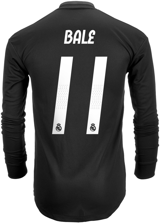ec6e278e4 2018 19 adidas Gareth Bale Real Madrid Authentic L S Away Jersey ...