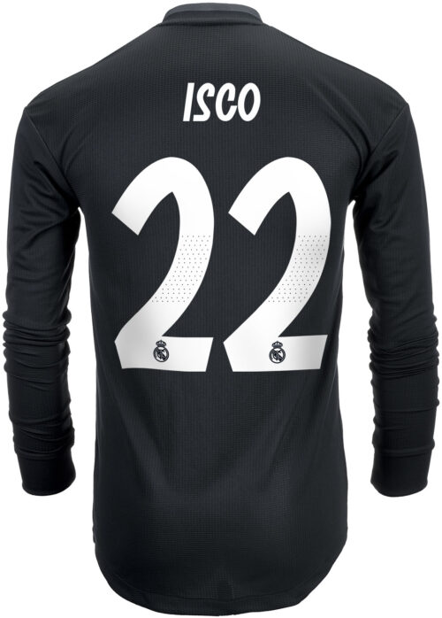2018/19 adidas Isco Real Madrid Authentic L/S Away Jersey