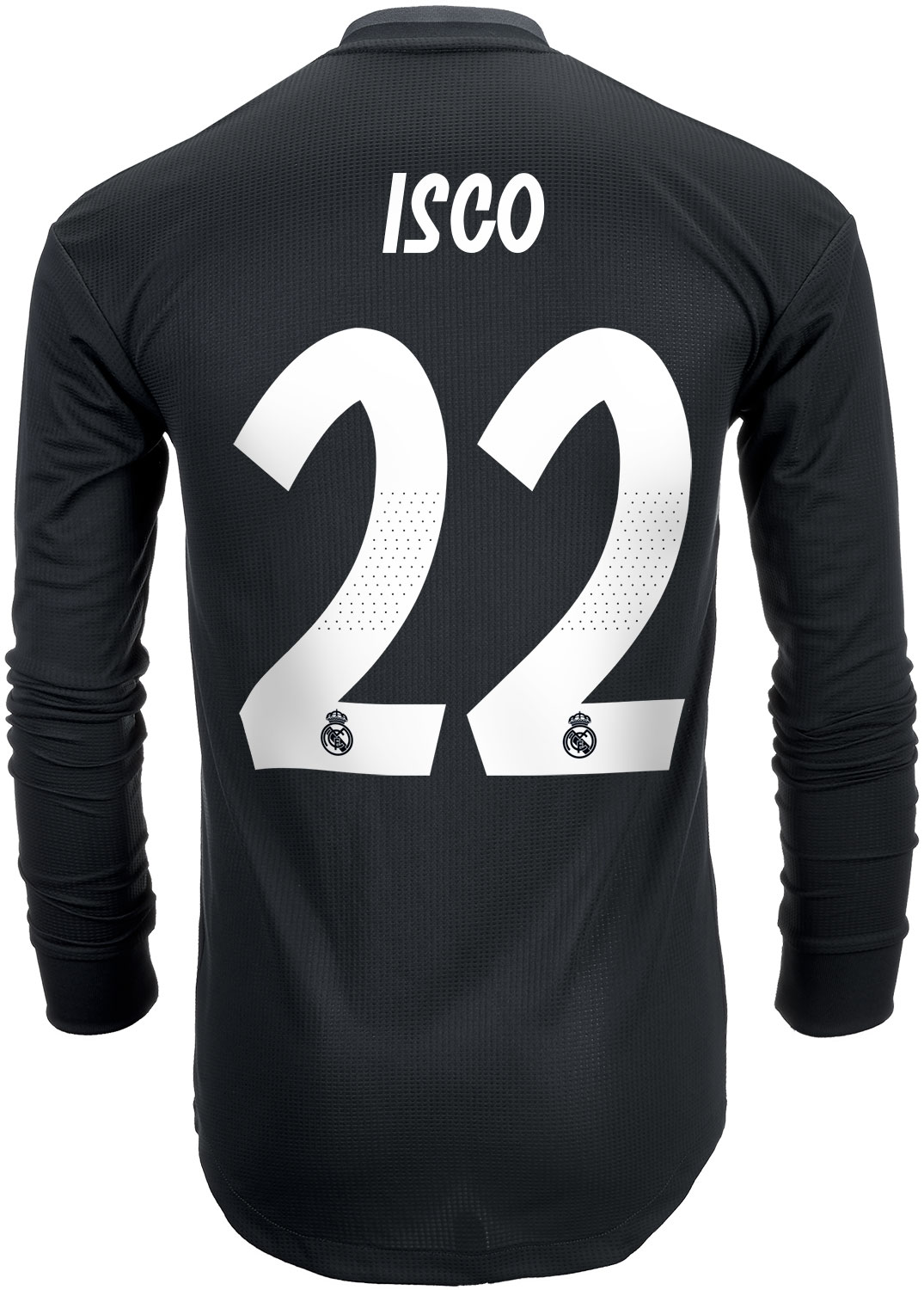 2018 19 adidas Isco Real Madrid Authentic L S Away Jersey - SoccerPro 813482d64