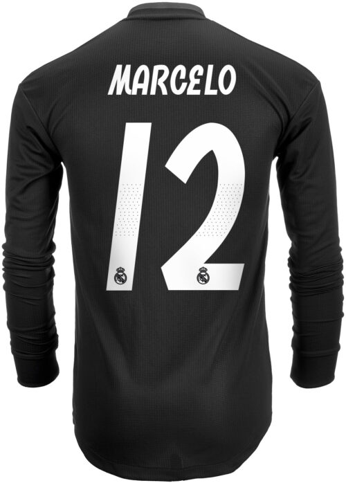 2018/19 adidas Marcelo Real Madrid Authentic L/S Away Jersey