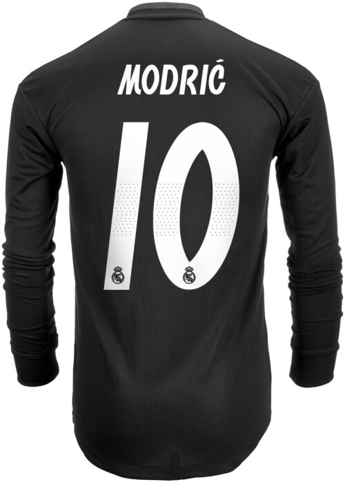 2018/19 adidas Luka Modric Real Madrid Authentic L/S Away Jersey