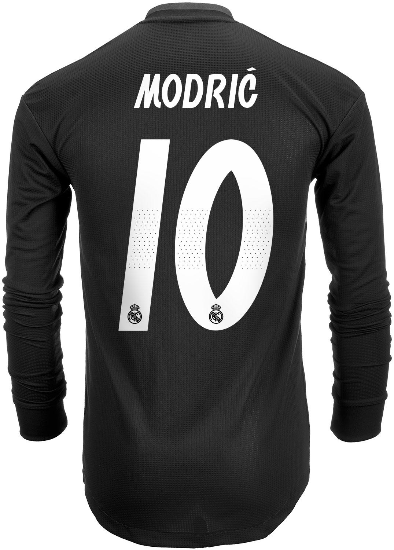 36412595e 2018 19 adidas Luka Modric Real Madrid Authentic L S Away Jersey ...