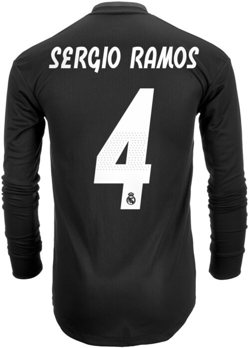 2018/19 adidas Sergio Ramos Real Madrid Authentic L/S Away Jersey