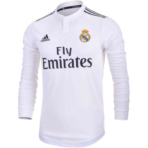 adidas Real Madrid Home Authentic L/S  Jersey 2018-19