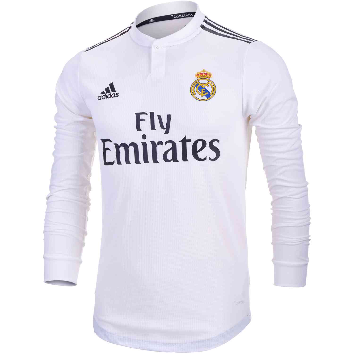 ed3dc591d adidas Real Madrid Home Authentic L/S Jersey 2018-19 - SoccerPro