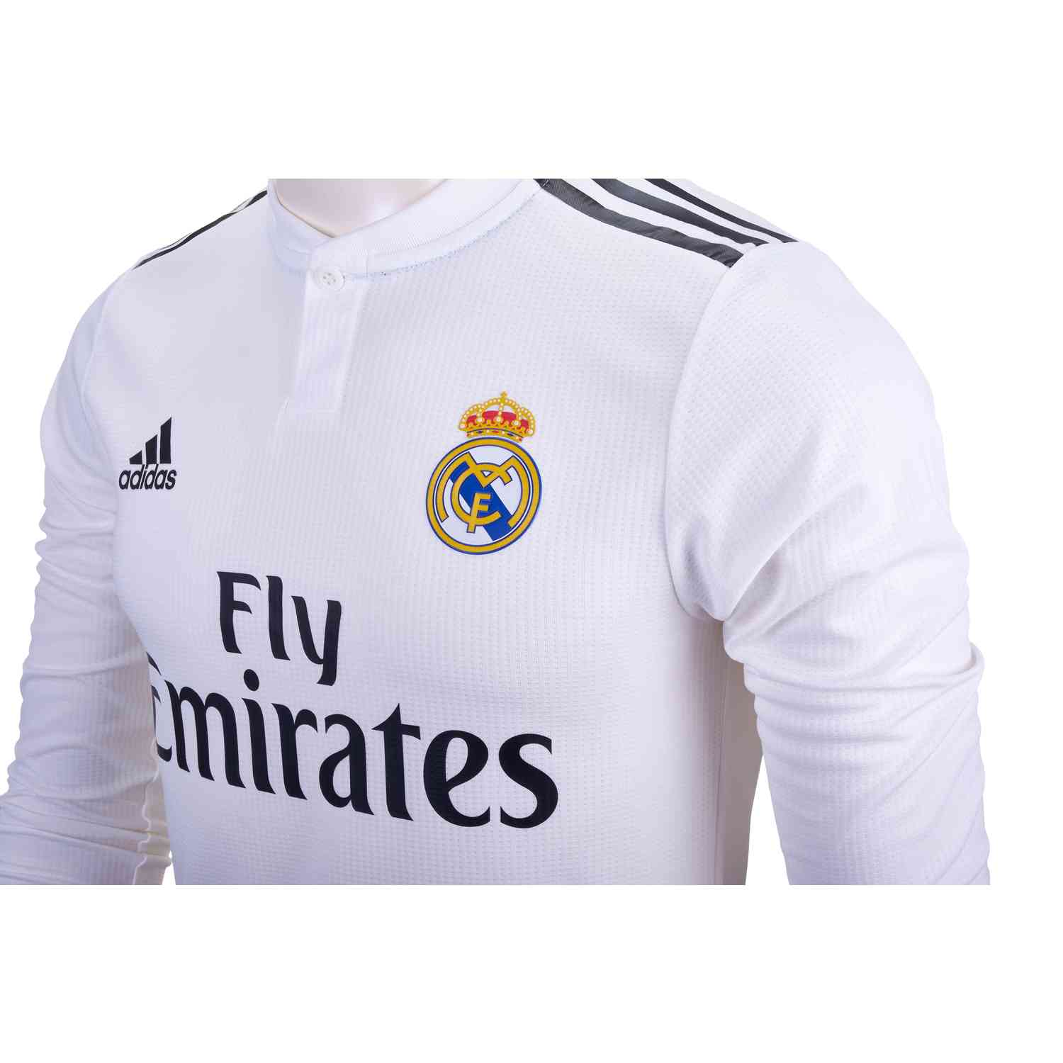 detailed look 9bc02 b5f13 adidas Sergio Ramos Real Madrid Home Authentic L/S Jersey ...
