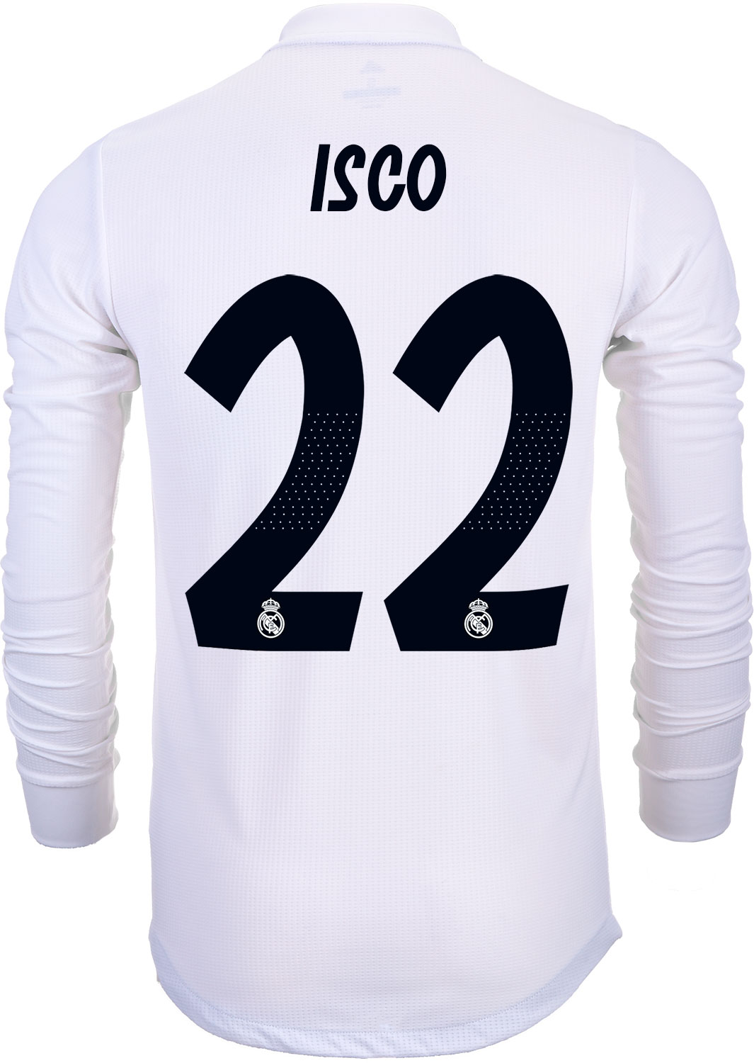 8e904dd93 adidas Isco Real Madrid Home Authentic L S Jersey 2018-19 - SoccerPro