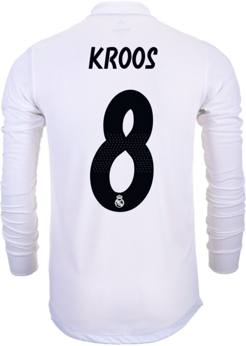 adidas Toni Kroos Real Madrid Home Authentic L/S  Jersey 2018-19