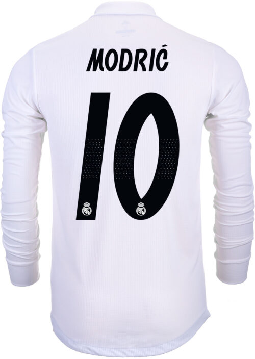 adidas Luka Modric Real Madrid Home Authentic L/S  Jersey 2018-19