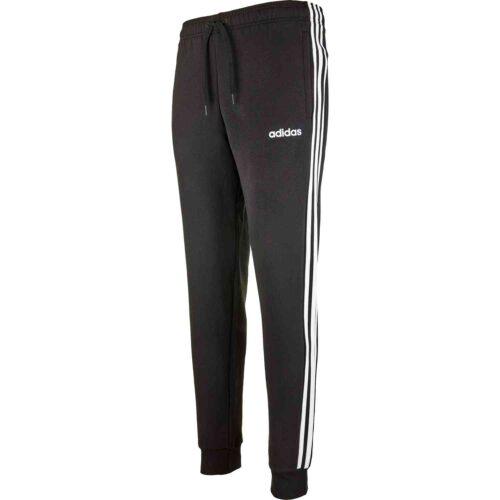 adidas Essentials Lifestyle 3-Stripes Fleece Pants – Black/White