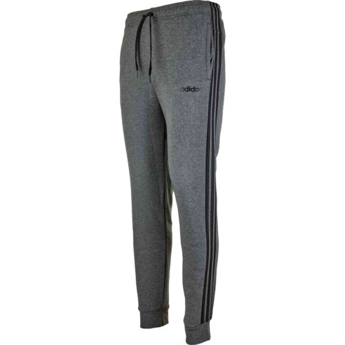 adidas Essentials Lifestyle 3-Stripes Fleece Pants – Dark Grey Heather/Black