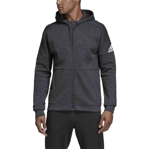 adidas Stadium Lifestyle Full-zip Hoodie – Black/Grey/Six