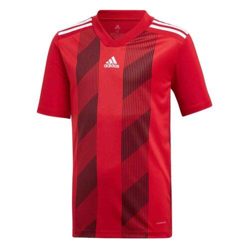 Kids adidas Striped 19 Jersey – Power Red/White