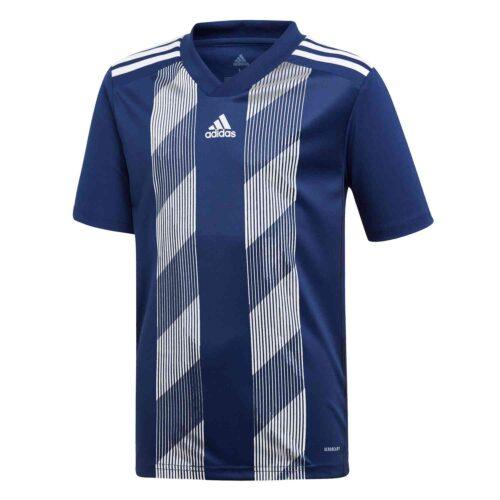 Kids adidas Striped 19 Jersey – Dark Blue/White